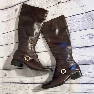 "Etienne Aigner ""Idaho"" Leather Riding Boots"